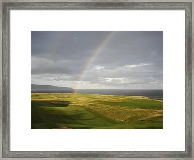 Brora Golf Course Rainbow Framed Print