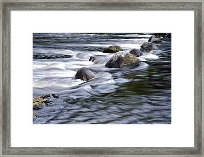 Framed Print featuring the photograph Brora River Scotland by Sally Ross