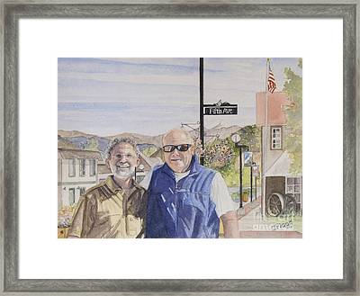 Framed Print featuring the painting Bros by Carol Flagg