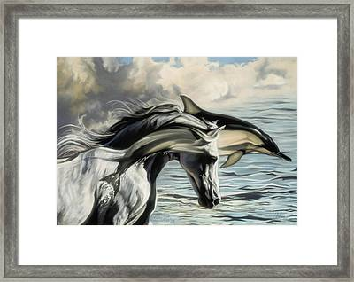 Brother Earth Sister Sea Framed Print