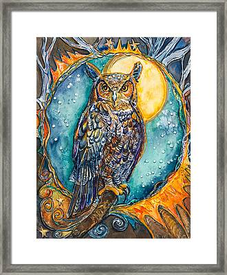 Brother Owl Framed Print by Patricia Allingham Carlson