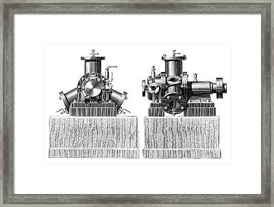Brotherhood Steam Engine Framed Print by Science Photo Library