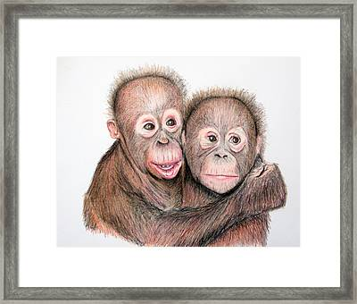 Brotherly Love Framed Print by Mary Mayes