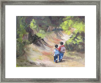 Brotherly Love Framed Print by Susan Richardson