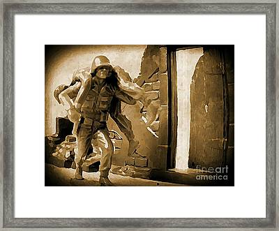 Brothers In Arms Framed Print by John Malone