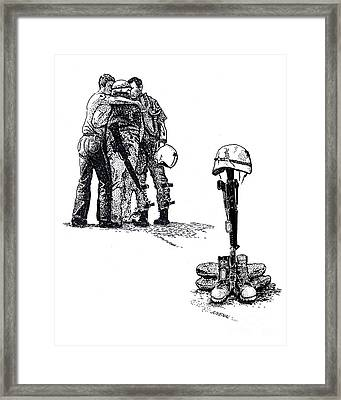 Brothers In Arms Framed Print by Joseph Juvenal