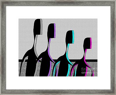 Framed Print featuring the digital art Brothers by Iris Gelbart