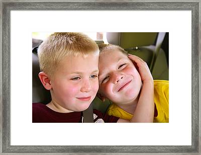 Brothers Love Framed Print by Shirley Heier