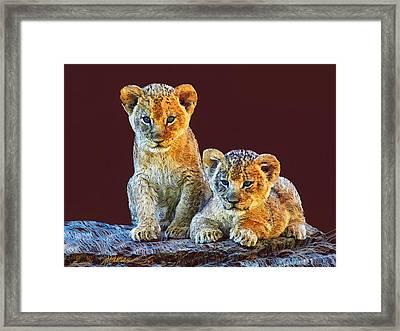 Brothers Framed Print by Marina Likholat