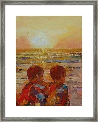 Brothers Framed Print by Michael Creese