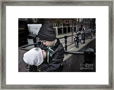 Brothers Framed Print by Michel Verhoef