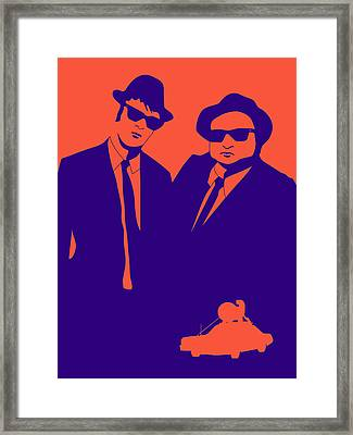 Brothers Poster Framed Print by Naxart Studio