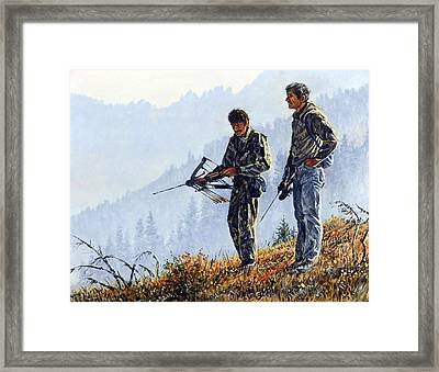 Framed Print featuring the painting Brothers by Steve Spencer