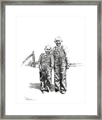 Brothers Framed Print by Todd Spaur