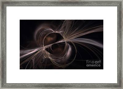 Brown Abstract Framed Print by Arlene Sundby
