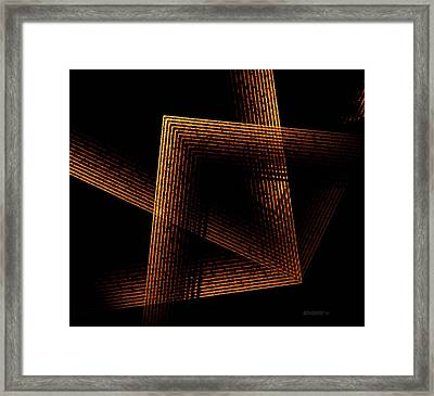 Brown And Black In Lines Framed Print by Mario Perez