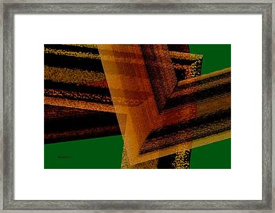 Brown And Green Art Framed Print by Mario Perez