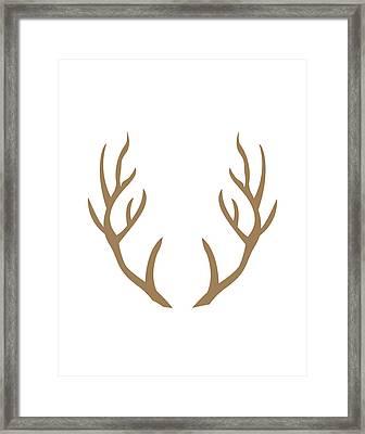 Brown Antlers Framed Print by Tara Moss