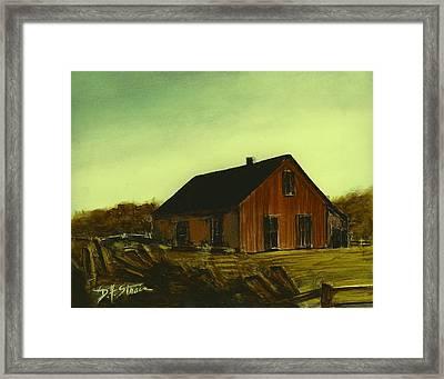 Brown Barn   Number 4 Framed Print by Diane Strain