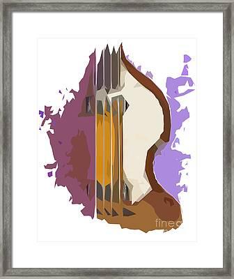 Brown Bass Purple Background 2 Framed Print