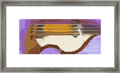 Brown Bass Purple Background 3 Framed Print by Pablo Franchi