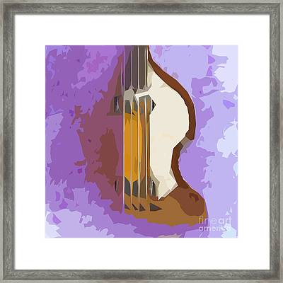 Brown Bass Purple Background 5 Framed Print by Pablo Franchi