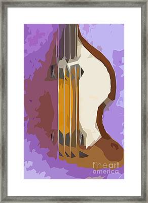 Brown Bass Purple Background Framed Print by Pablo Franchi
