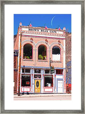 Brown Bear Cafe Silverton Colorado Framed Print by Janice Rae Pariza