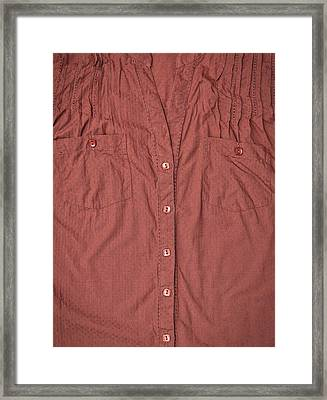 Brown Blouse Framed Print by Tom Gowanlock