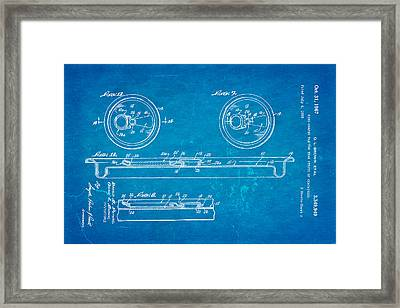 Brown Can Ring Pull Patent Art 2 1967 Blueprint Framed Print by Ian Monk