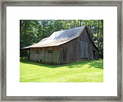 Brown Co. Barn Beauty Framed Print