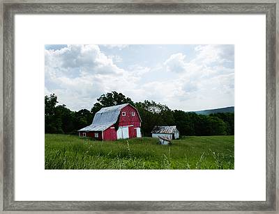 Brown County Barn Framed Print by Off The Beaten Path Photography - Andrew Alexander