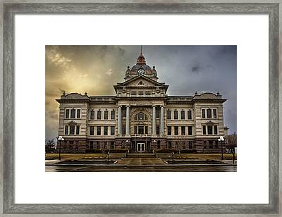 Brown County Courthouse Framed Print by Thomas Zimmerman