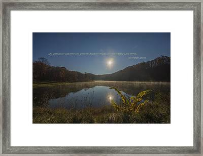 Brown County State Park Nashville Indiana Biblical Verse Ogle Lake Framed Print