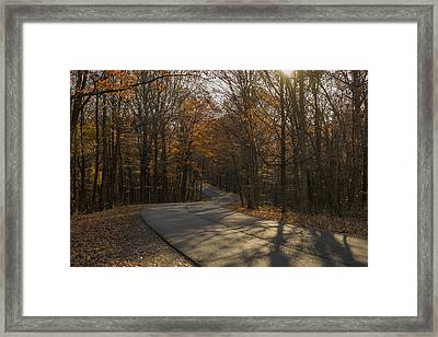 Brown County State Park Nashville Indiana Road Framed Print by David Haskett