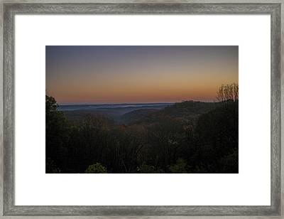 Brown County State Park Nashville Indiana Sunrise Framed Print by David Haskett