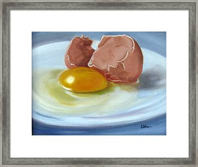Brown Egg Study Framed Print