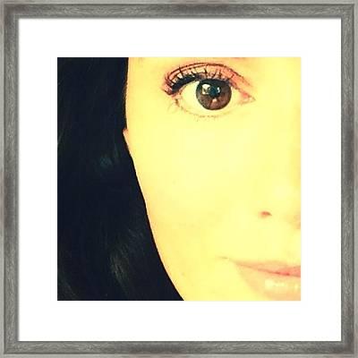 Brown Eyed Girl  Framed Print