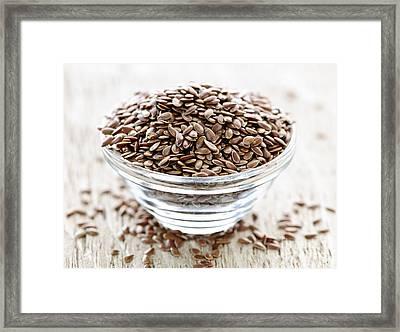 Brown Flax Seed Framed Print