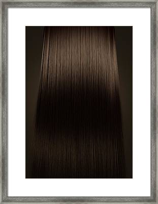 Brown Hair Perfect Straight Framed Print by Allan Swart