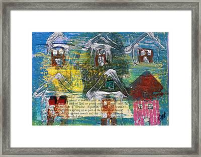 Brown House No. 3 Framed Print