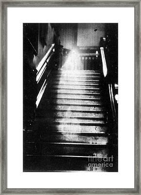 Brown Lady Of Raynham Hall Ghost 1936 Framed Print