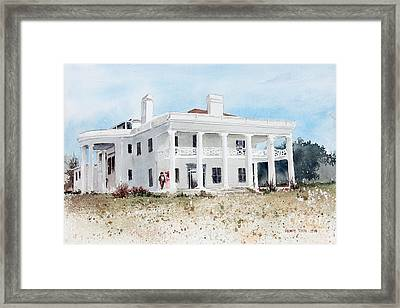 Brown Mansion Framed Print