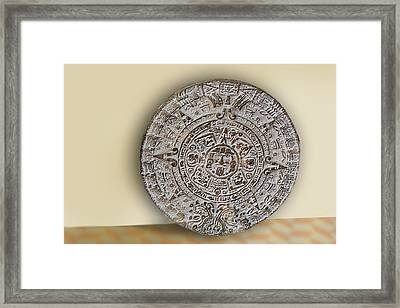 Brown Mexican Media Disk Framed Print by Linda Phelps