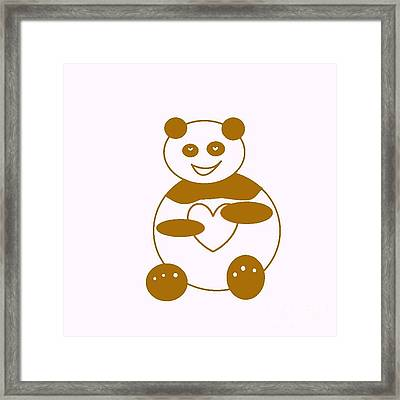 Brown Panda Framed Print by Ausra Huntington nee Paulauskaite
