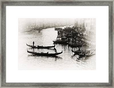 Brown Tone Grand Canal Framed Print by John Rizzuto