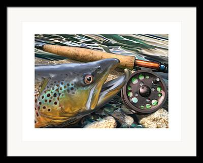 Wet Fly Framed Prints