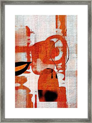 Framed Print featuring the photograph Brown Weave Abstract by Allen Beilschmidt