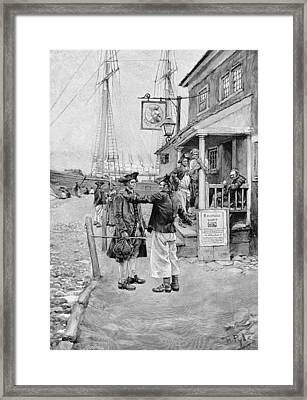 Brownejohns Wharf, New York, Illustration From Old New York Taverns By John Austin Stevens, Pub Framed Print by Howard Pyle