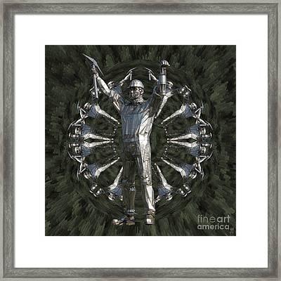 Brownhills Miner Framed Print by Neil Finnemore